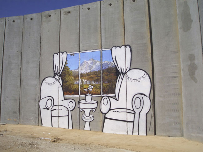 banksy-palestine-chairs